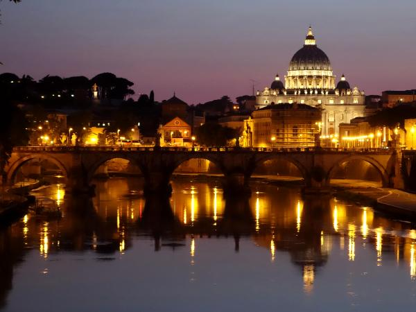 St. Peter's at night