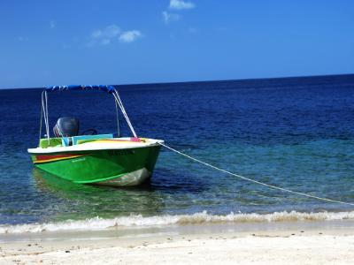Green Boat waiting