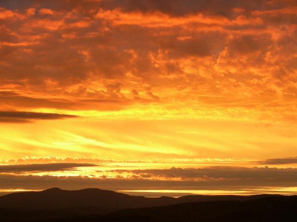 Sunset over Mt Cardigan